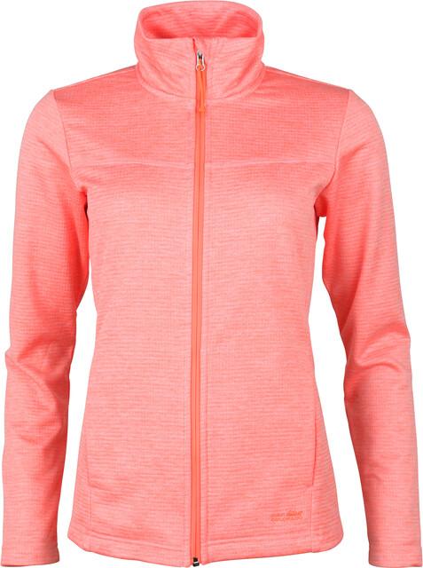 High Colorado Morgano Waffelfleece Jacke Damen neon peach